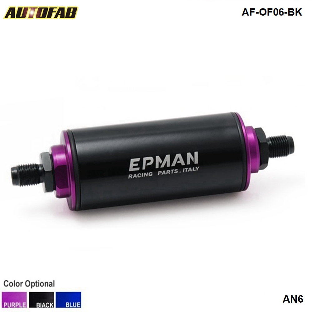 hight resolution of aliexpress com buy high flow performance universal an6 aluminum fuel filter petrol with 100 micron element steel ss af of06 bk from reliable fuel filter