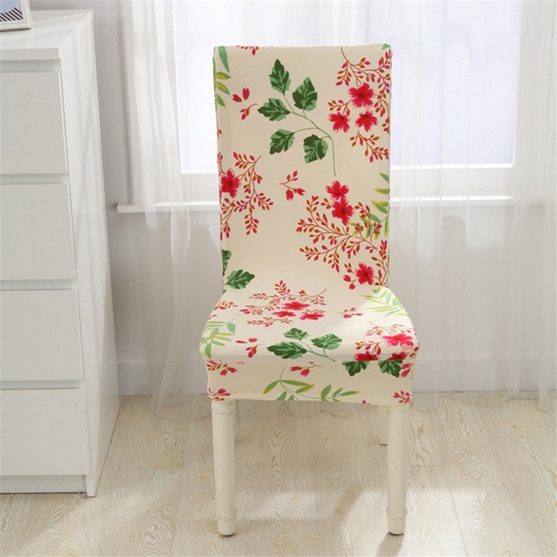 Floral Print Chair Covers Home Dining Multifunctional Spandex Chair Cover  Elastic Cloth Universal Stretch Wedding Decoration