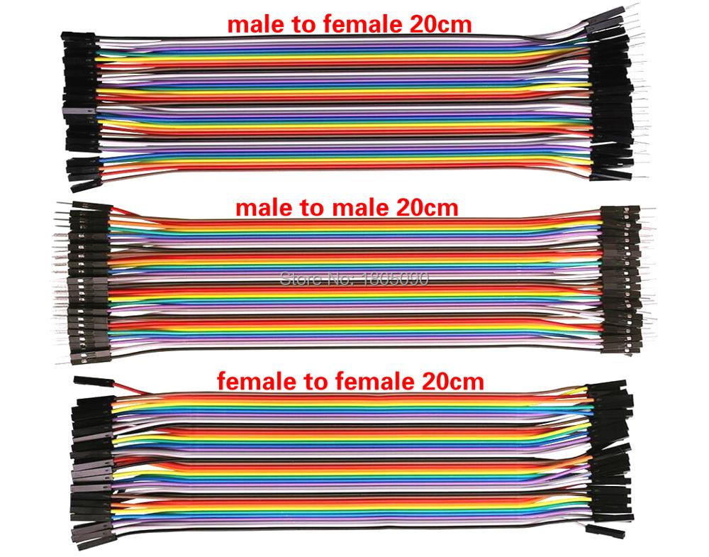 120pcs/Lot Dupont line 20cm male to male + male to female + female to female jumper wire Dupont cable for arduino Free shipping free shipping 10 pcs lot 70cm 3 pin 3pin female to female jumper wire dupont cable