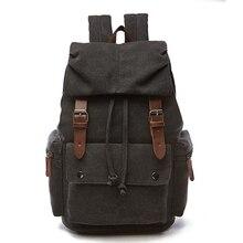 Novo vintage mochila de lona das mulheres lazer viagem saco escolar unissex mochilas para portátil bagpack masculino