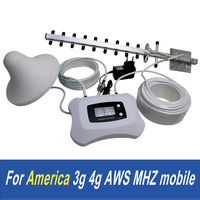 ATNJ smart 1700 AWS phone signal booster, for America 3g 4g use top quality repeater with yagi and ceiling antenna and cable