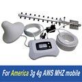 Atnj smart 1700 aws reforço de sinal de telefone, para a América 3g 4g uso repetidor com yagi e teto antena e cabo de qualidade superior