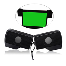 USB Clip Screen Computer Speaker Compact Wired Laptop Stereo Soundbar for PC Desktop Tablets