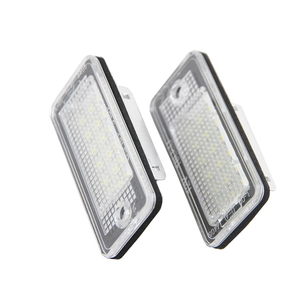 2pcs High Quality Led Number Plate Light A3 Cabriolet A4 S4 A6 C6 Rs4 Avant Quattro Rs6 Plus A8