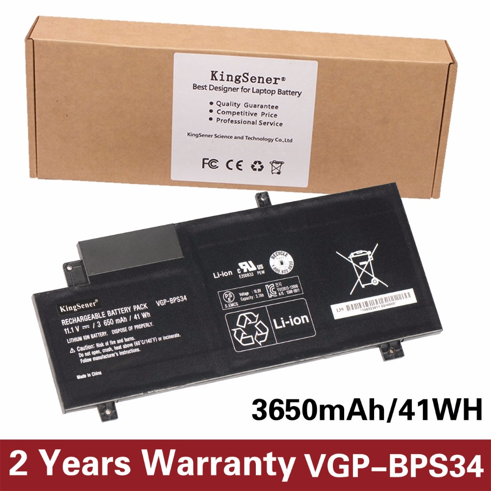 Korea Cell KingSener New VGP-BPS34 Laptop Battery For SONY Vaio Fit 15 Touch SVF15A1ACXB SVF15A1ACXS SVF14A BPS34 VGP-BPL34 11 1v 97wh korea cell new m5y0x laptop battery for dell latitude e6420 e6520 e5420 e5520 e6430 71r31 nhxvw t54fj