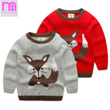 Kids Sweaters Autumn Boys Girls Sweaters Fashion Printed Cartoon Cotton 2-8 Years Children Pulloves