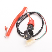 Motorcycle Motor QUAD Bike Engine Stop Tether Lanyard Closed Kill Portable Push Button Switch
