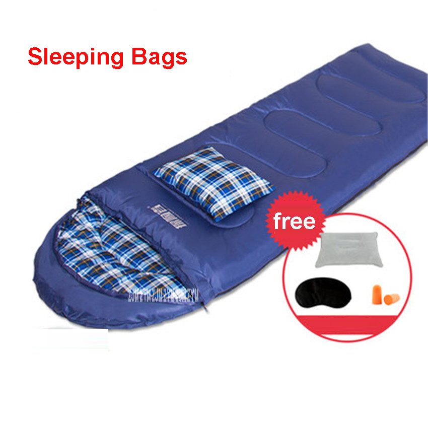 TXZ-SD202 Adults' 4 Season Hollow Cotton Splicing Sleeping Bags Outdoor Sports Thick Hiking Camping Climbing Warm Sleeping Bag