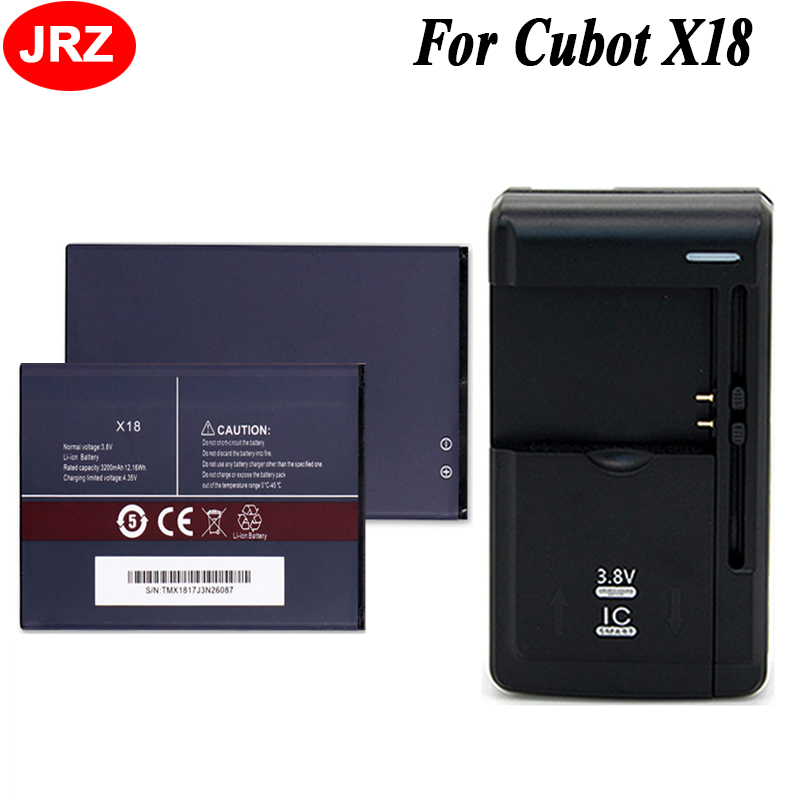 1LOT=2PC Battery+Universal Charger For Cubot X18 Phone