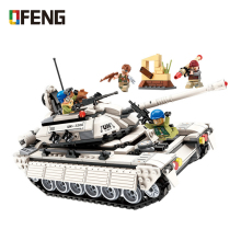 WW2 Military Series Heavy Thunder Tank model building blocks Army Vehicle bricks Compatible With  toy for children gift