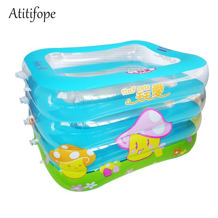 Piscine pour bébé Portable Gonflable piscine pour enfants Baignoire Kid Enfant Nouveau-Né Pliable bac de douche Gonflable Baignoire