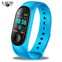 2019 LIGE New Women Smart Watch Blood Pressure Heart Rate Monitor Fitness Tracker Pedometer SmartWatches Men For Android IOS+Box цены онлайн