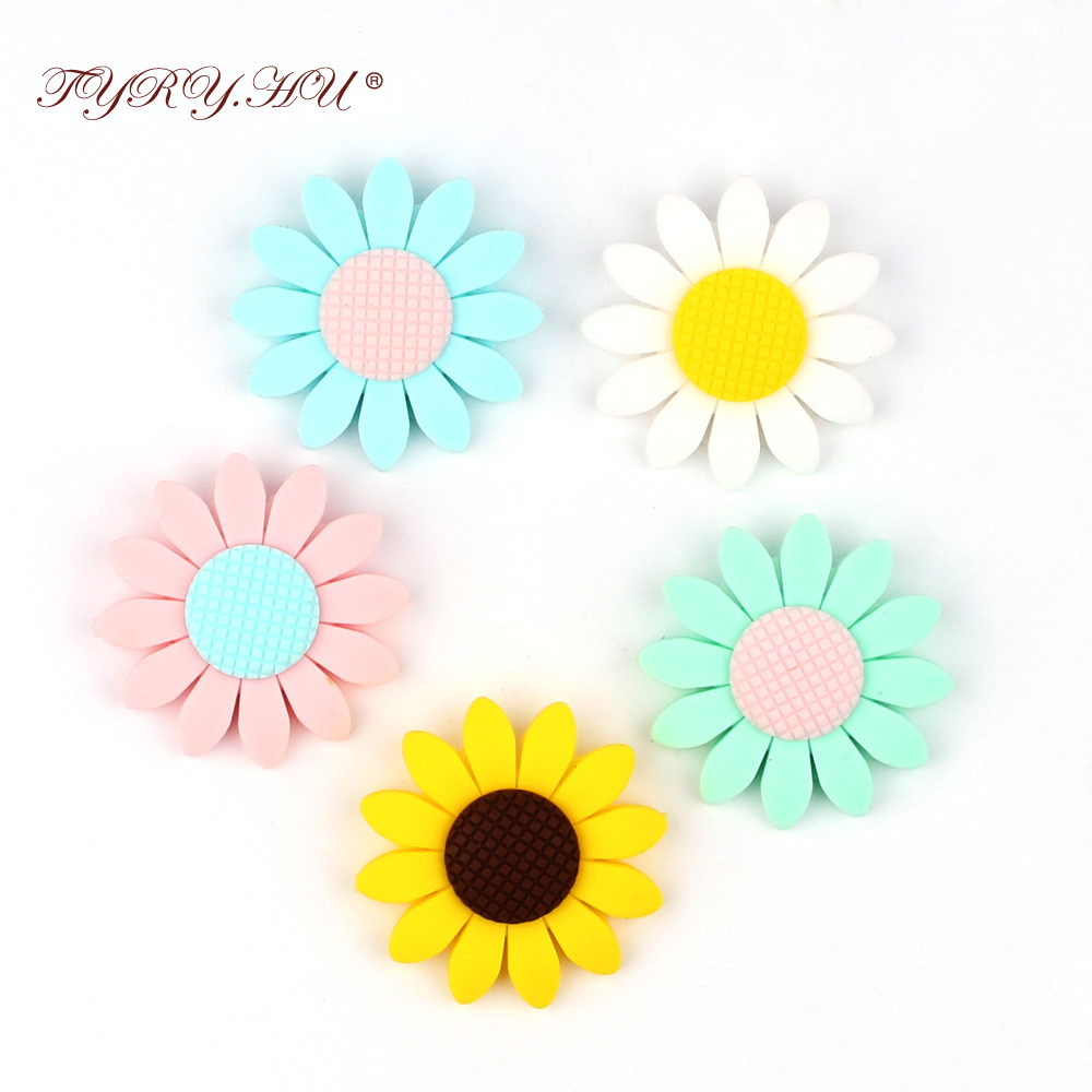 TYRY.HU 5pcs Baby Teething Pacifier Clips Personalized Name Safe Silicone Beads Dummy Chains For Nipples Hot Christmas Gifts