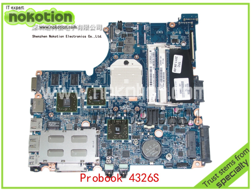 628489-001 Laptop Motherboard for HP Compaq Probook 4326S Mobility Radeon HD 5430 DDR3 Mainboard full tested free shipping for hp compaq 605139 001 laptop motherboard mainboard da0ax3mb6c2 fully tested good condition