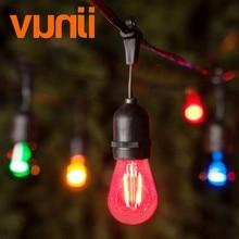 IP65 15 m מסחרי כיתה LED S14 מחרוזת אור הנורה LED צבעים אור מחרוזת לחתונה בחוץ תאורת חג אירוע המפלגה