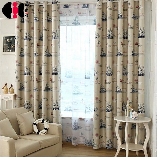 zeilen gedrukt doek wit transparant tulle gordijnen raam gordijnen verduisterende stof slaapkamer balkon wp354a