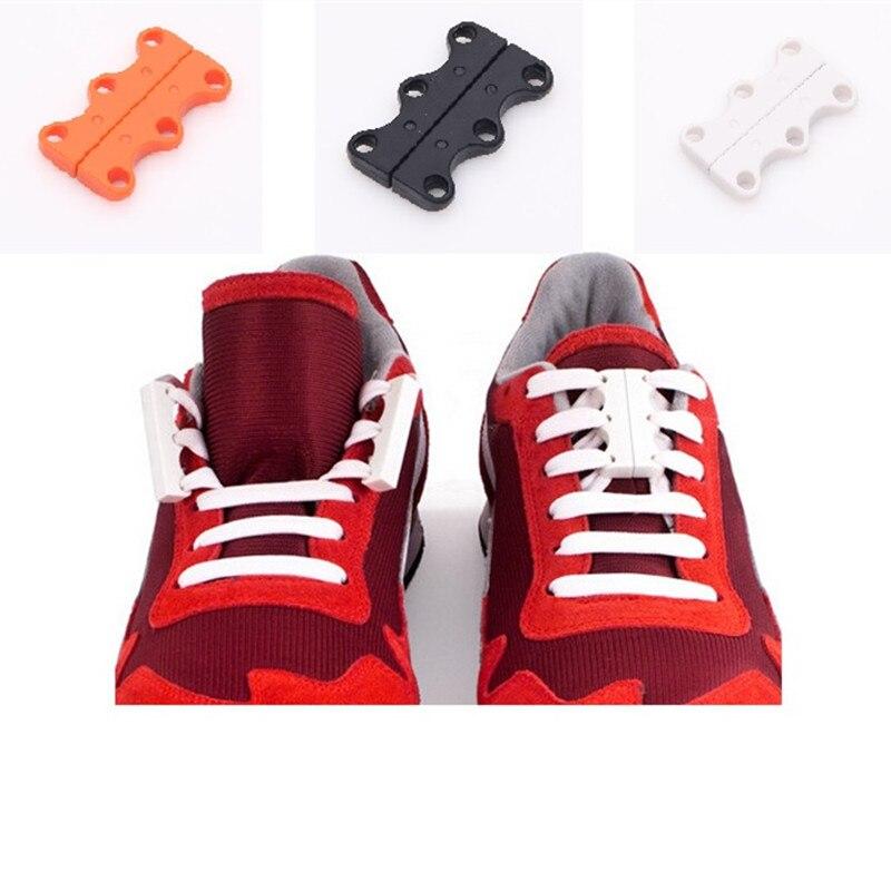 1 Pair Magnetic Shoe Buckles 2016 Casual Sneaker Magnetic shoe laces Closure shoelaces Buckles No-Tie Shoelace Buckles New