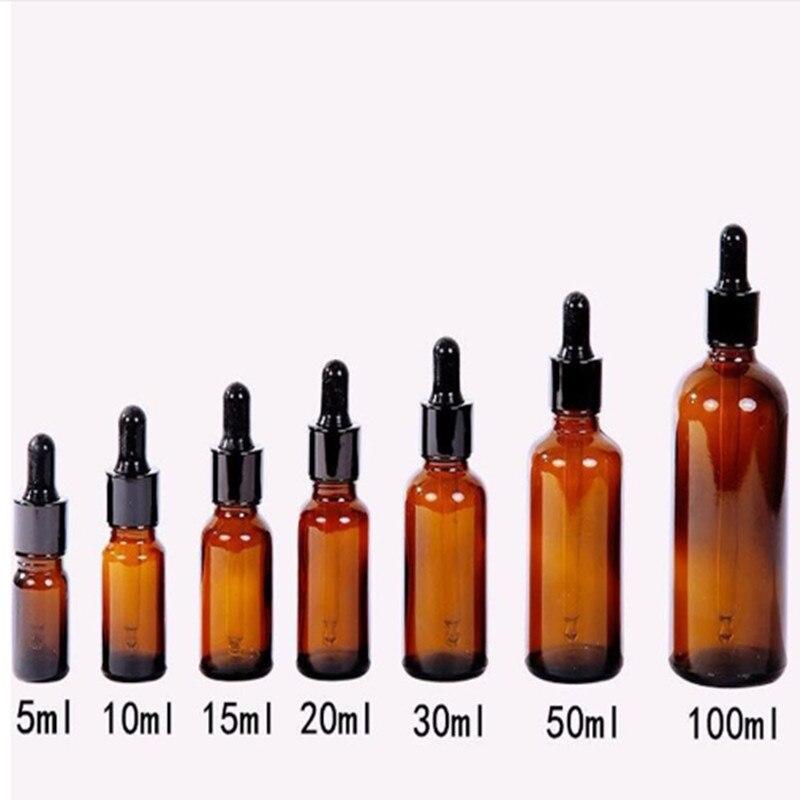 Hell 5/10/15/20/30/50 Ml Braunglas Flüssigreagenz Pipette Flasche Pipette Tropfen Aromatherapie Vorratsglas Flaschen Gut FüR Energie Und Die Milz Ornamente