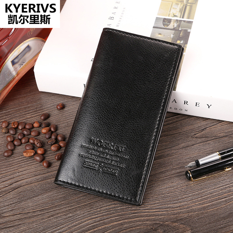 HOT Pu Leather Wallet Men Long Clutch Purses Slim Vintage Wallet Male Brand High Quality Designer Card Holder Purse Men Wallets designer men wallets famous brand men long wallet clutch male money purses wrist strap wallet big capacity phone bag card holder