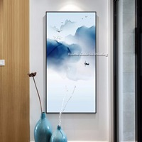 Boat Bird Cloud Modern Abstract Print Painting on Canvas Hand painted Wall Art Picture for Living Room Home decor Frameless