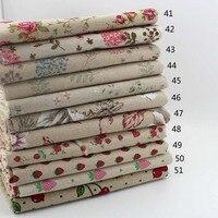 Zakka Vintage Cotone Lino Tessuto per DIY Patchwork Cucito Tessuto HomeTextiles Tavolo Tessuto Della Tenda 1.45*1 M Spedizione gratuita