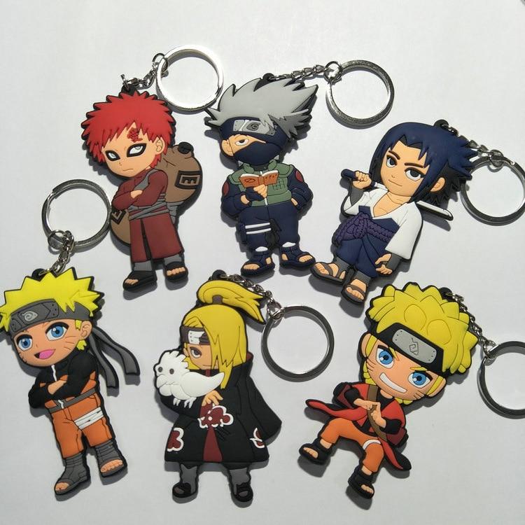 Naruto Hatake Kakashi acrylic Keychain Key Ring Two faces Bag Ornament Keyring
