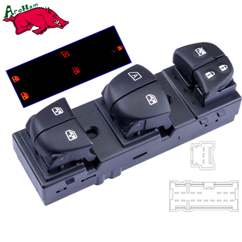 Harbll Neweast Electric Power Window Switch For Nissan Qashqai/Altima/Sylphy/Tiida/X-Trail power window driver door switch for nissan altima 2007 2012 25401 zn50c