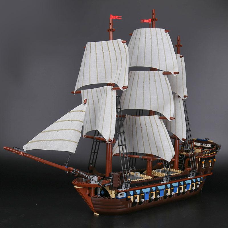 22001 Imperial Flagship Building Blocks Set Pirates Sailing Ship DIY Model Bricks Compatible with 10210