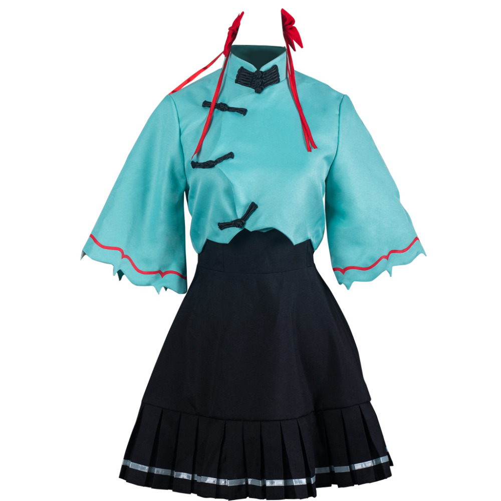 Women Luo Tianyi Vocaloid Hatsune Cosplay Japanese Figure Costume Dress Party Outfits Clothing Adult Girls Halloween Costumes