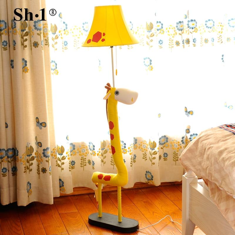 Rural living room decoration cloth cartoon animal lamp European childrens bedroom bedside lamp