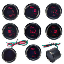 52mm Boost Gauge/Water Temp/Oil Temp/Oil Press/Voltage/Tachometer Gauge Digital Red led Black Case