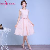 New Fashion Red Lace Flower Short Cocktail Dress The Bride Married Banquet Elegant Sleeveless Knee Length