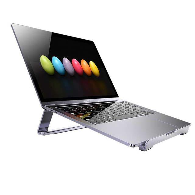 """13-17.3"""" inch Simple Laptop Cooling Base Aluminum Foldable Notebook Support for MacBook Air Pro Desktop Stand Portable Bracket"""