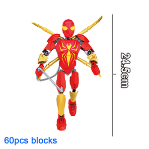 Image 5 - Avenger Super Hero Thor Captain America Ironman Superman Buildable Action Figure Building Block Toy Brick Compatible with