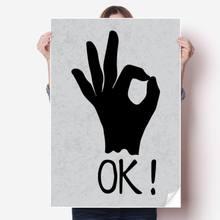 Diythinker ок силуэт персонализированный жест виниловая наклейка
