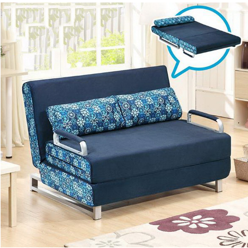 260301/1.5 m Home sofa bed / foldable /living room small apartment / multi-function double sofa/High quality flannel