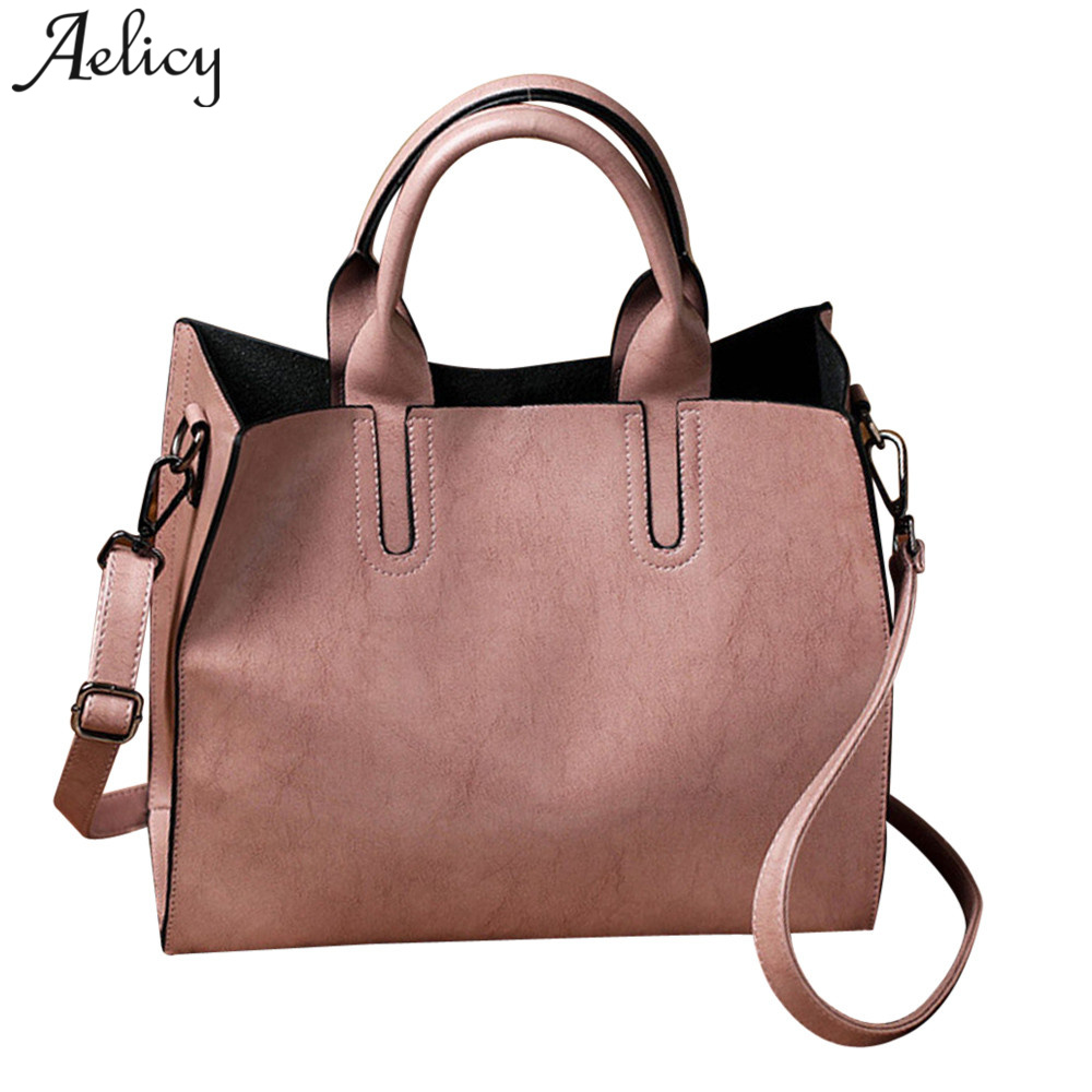 Aelicy Hot Sale Popular Fashion Brand Design Female Top-handle Bags PU Leather Soft Vintage Ladies Womens Purses And Hand Bags ...