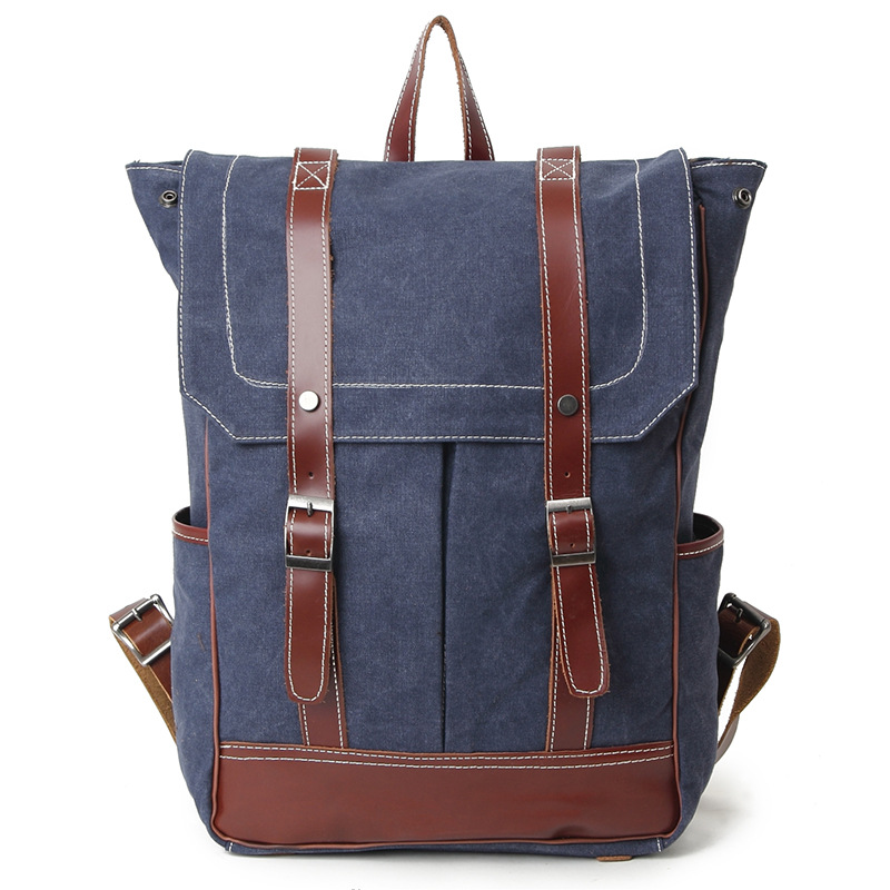 New Fashion Men & Women Backpack Vintage Canvas Double Shoulder Bags School Bag Men's Travel Bags Large Capacity Knapsacks H040 kaukko large capacity shoulder bag mens traval canvas backpack unisex bags for teenager school knapsacks