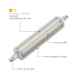 Image 3 - ANBLUB Dimmable Bulb R7S LED Corn 2835 SMD 78mm 118mm 135mm 189mm Light 5W 10W 15W 20W Replace Halogen Lamp 85 265V Floodlight