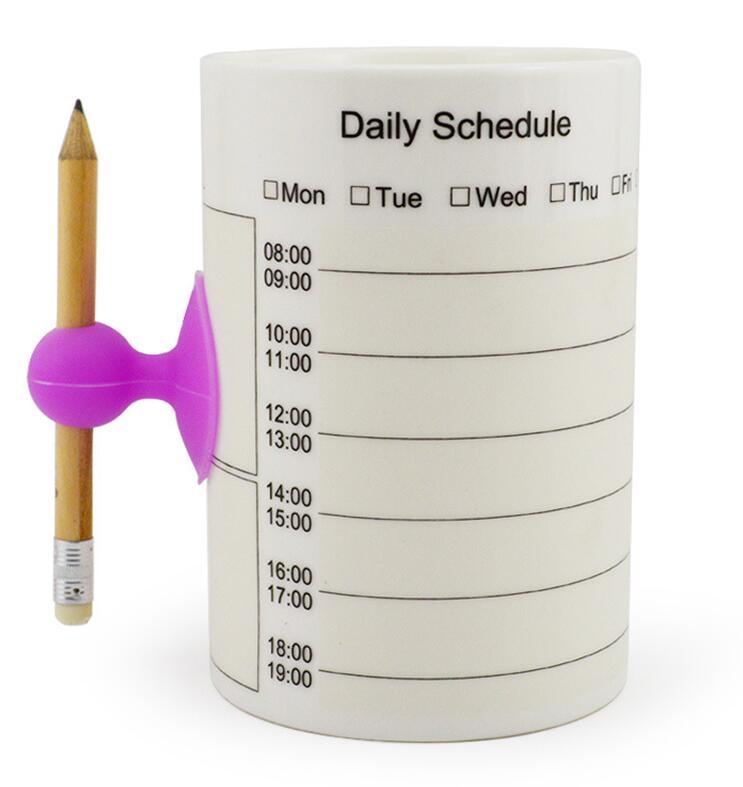 Calendario Scrivibile.Us 11 35 29 Di Sconto Personalizzato Calendario Memo Scrittura Tazze Di Caffe Tazze Di Ceramica Invece Notebook Scrivibile Multifunzione Weekly