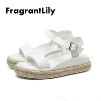 Fragrantlily 2018 Summer British Style New Hot Women Shoes Pumps Sexy Fashion Leisure Take Buckle Thick