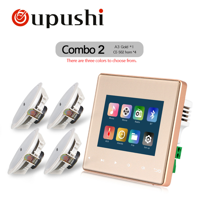 Oupushi Casa de Audio visual en la pared amplificadores/FM/SD/AUX/USB reproductor de música AMPLIFICADOR ESTÉREO digital Bluetooth, cinem de cine en casa