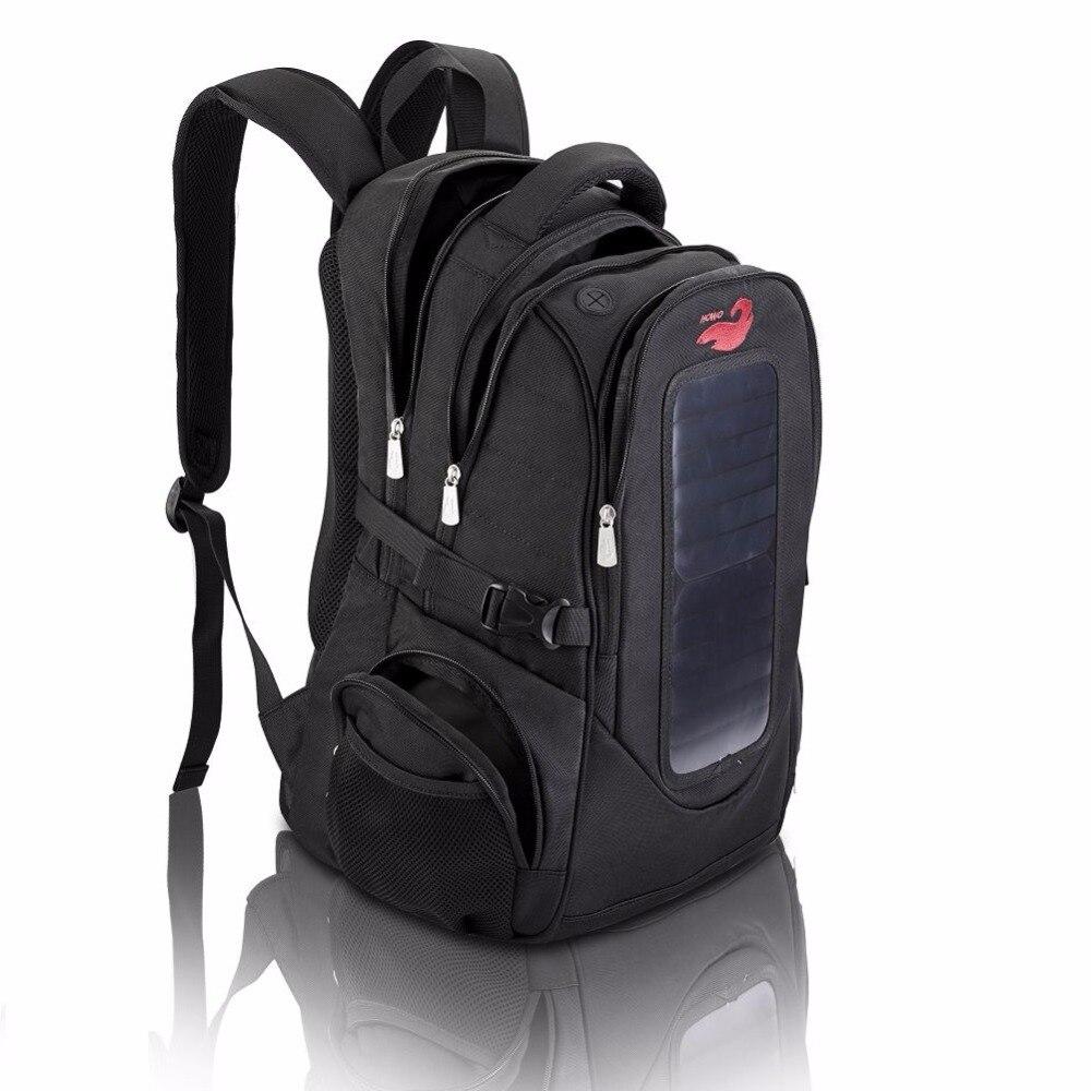 Solar Panel Men's Travel Backpack Brand New Business Bag Large Capacity Laptop Backpack 2018 Multifunctional Zipper Shoulder Bag