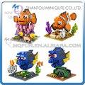 4 unids/lote Mini Qute kawaii LOZ Finding Nemo Marlin Charlie Dory cartoon bloque cubo de plástico bloques de construcción de ladrillos de juguetes educativos