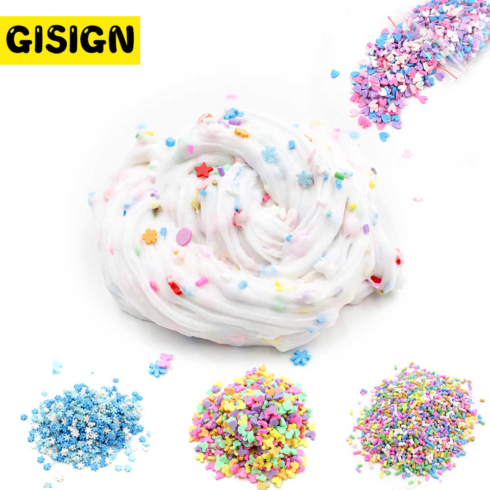 Fake Sprinkles Addition for Fluffy Slime Charms Bead Make Kit DIY Box Antistress Slime Clay Accessories Plasticine Toys