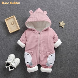 Image 2 - 2020 New Russia Baby costume rompers Clothes cold Winter Boy Girl Garment Thicken Warm Comfortable Pure Cotton coat jacket kids