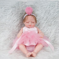26cm full body Silicone dolls mini Reborn Dolls adorable Lifelike reborn dolls Sleeping baby Fashion Doll photography props