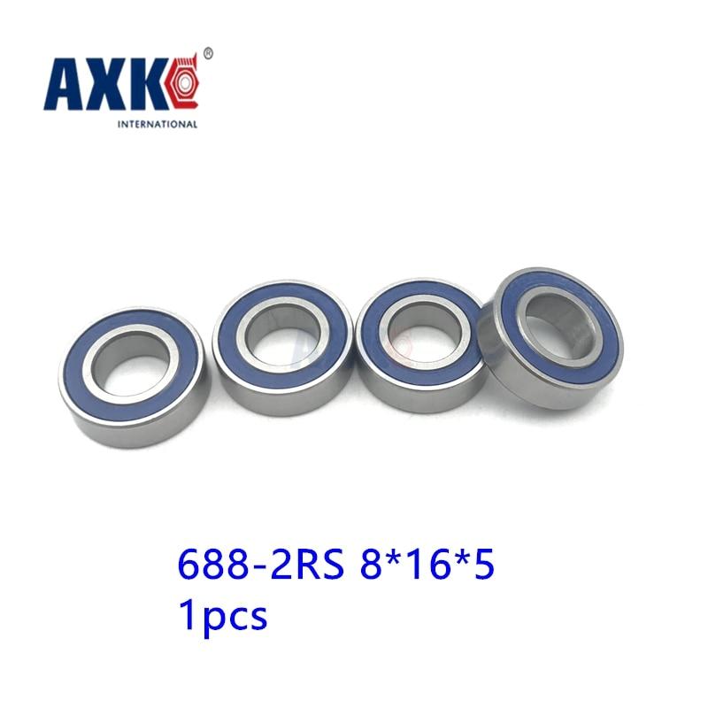 AXK 688-2rs  Hybrid Ceramic Bearing 8*16*5 mm free shipping 1pcs  Industry Motor Spindle 688HC Hybrids Ball Bearings 3NC 688RS axk free shipping 1pcs 6901 2rs hybrid ceramic si3n4 ball 61901 ceramic bearing 12 24 6mm 6901 2rs