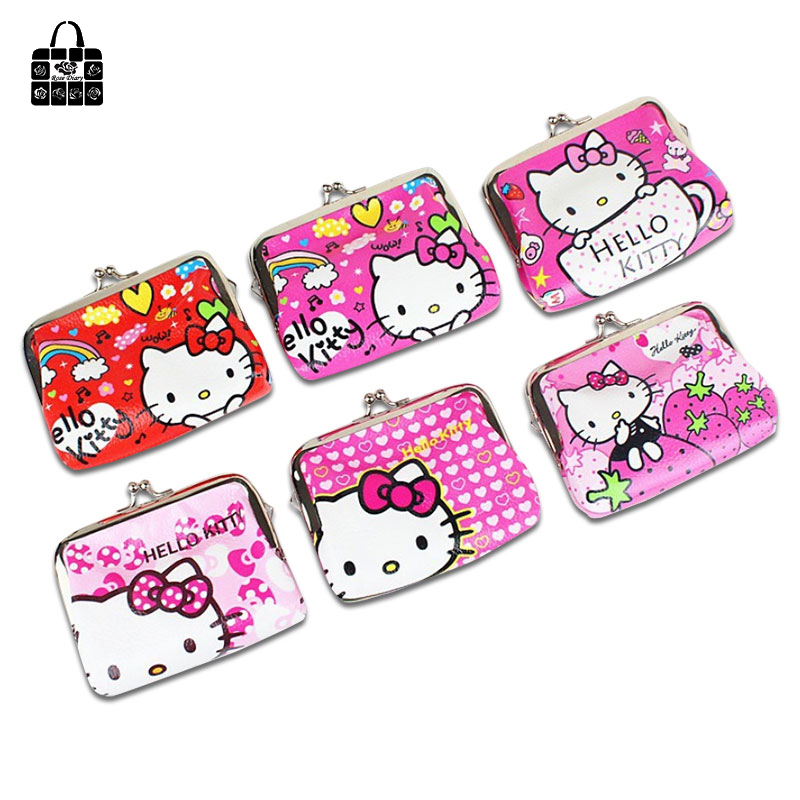 Super Cute Hello Kitty PU Change Purse Wallet Coin Bag Card Case Zipper Bag Gift