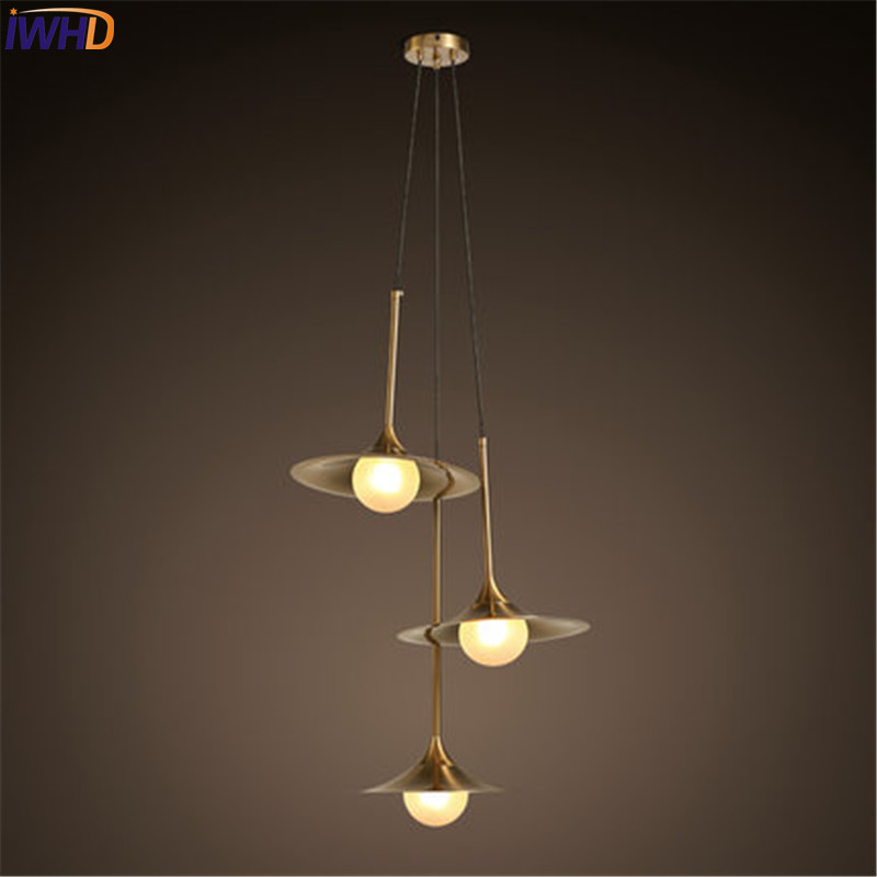 IWHD Loft Style Creative 3 Head Iron Glass Droplight Modern LED Pendant Lamp Fixtures Dining Room Hanging Light Home Lighting iwhd loft style creative 3 head iron glass droplight modern led pendant lamp fixtures dining room hanging light home lighting